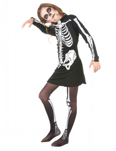 Costume scheletro per bambina Halloween-1