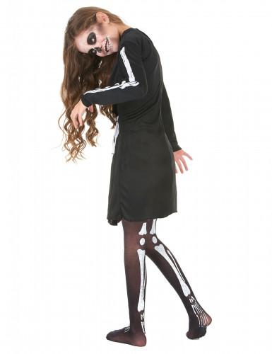 Costume scheletro per bambina Halloween-2