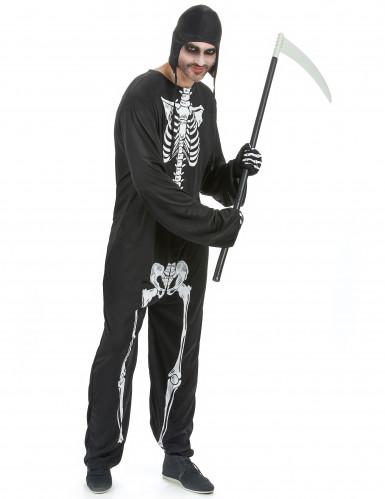 Costume uomo da scheletro per Halloween
