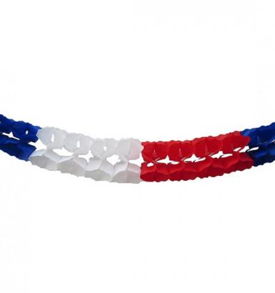Ghirlanda con il tricolore francese da 6 metri