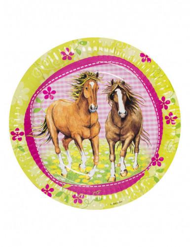 8 piatti usa e getta cavalli-2