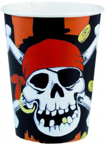 Bicchieri con teschio pirata