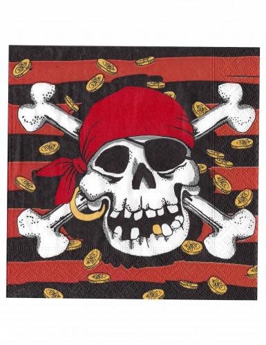 20 tovaglioli con disegno pirata