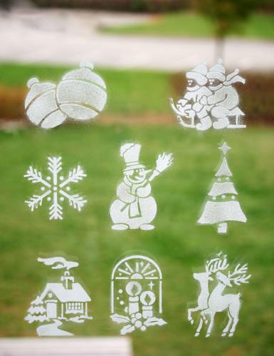 8 stencil natalizi con vari decori-1