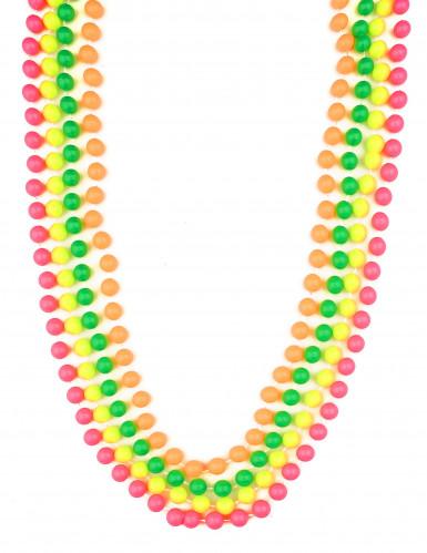 4 lunghi fili di perle colorate
