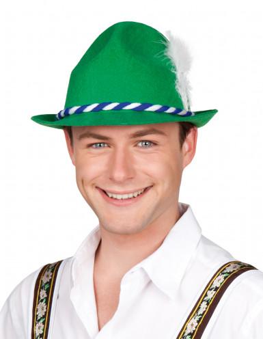 Cappello tirolese verde in feltro