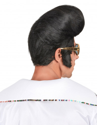 Parrucca nera rock da uomo-1