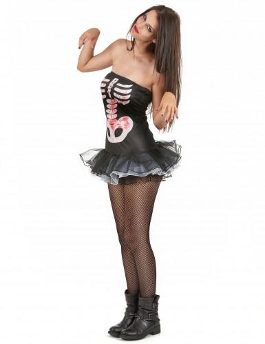 Costume Halloween da scheletro sexy per donna-1
