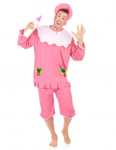 Costume rosa da neonato per uomo