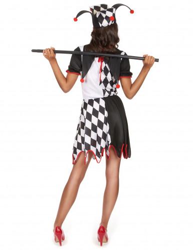 Costume buffone medievale da donna-2