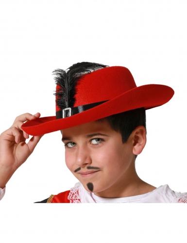 Cappello rosso da moschettiere per bambino