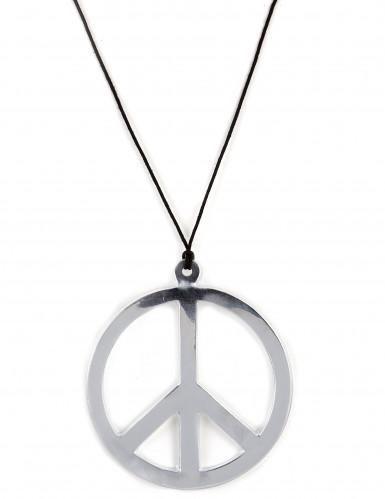 Collana argentata Gigante stile hippie
