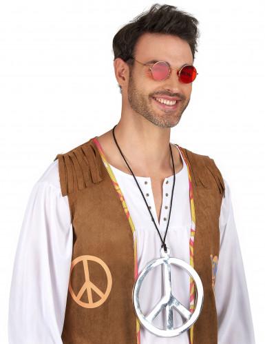 Collana argentata Gigante stile hippie-1