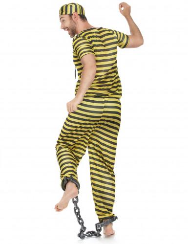 Costume uomo carcerato giallo-2