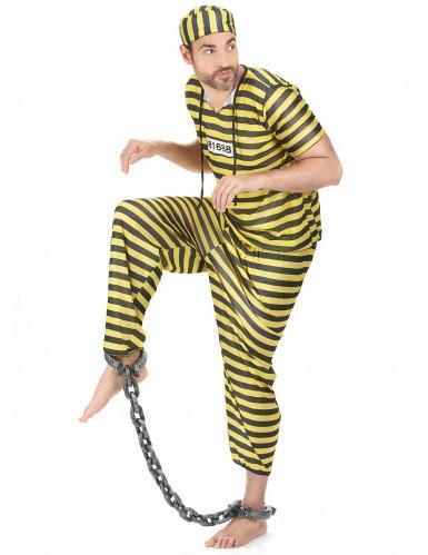 Costume uomo carcerato giallo-1