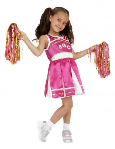 Costume fucsia da ragazza pompon per bambina