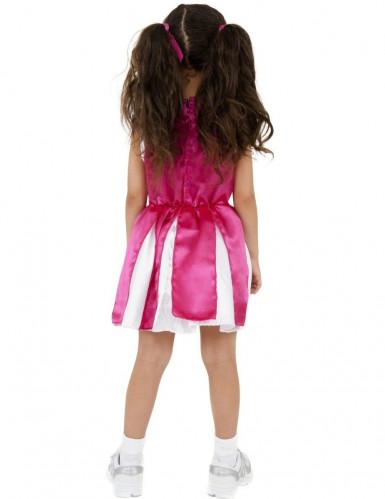 Costume fucsia da ragazza pompon per bambina-1