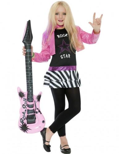 Costume da cantante rock per bambina