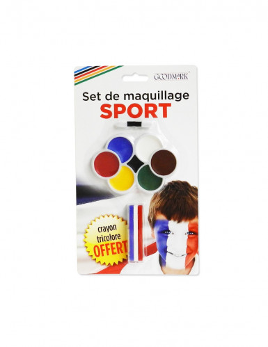 trucco tifosi con 7 colori e matita tricolore