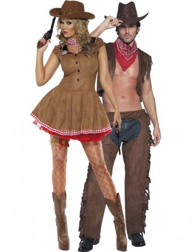 Coppia costumi sexy adulto da cowgirl e cowboy