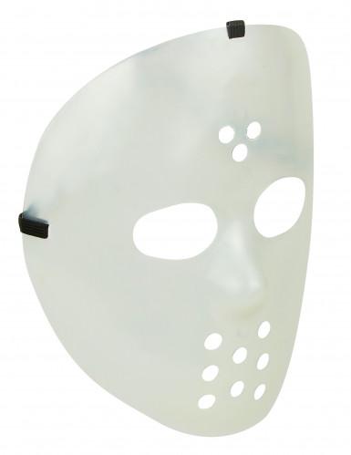 Maschera fosforescente da hockey per adulti