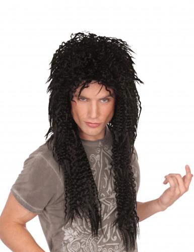 Parrucca ricciola rocker anni '80