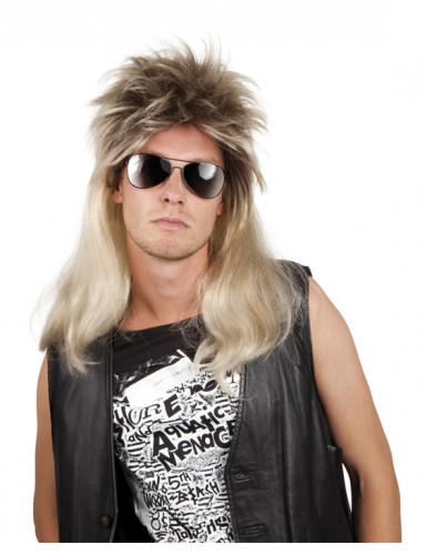 Parrucca bionda rocker anni '80