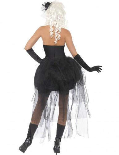 Vestito scheletro macabro donna-2