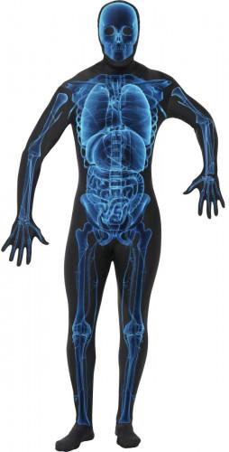 Costume da scheletro raggi x per adulto