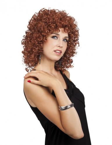 Parrucca da donna riccia marrone