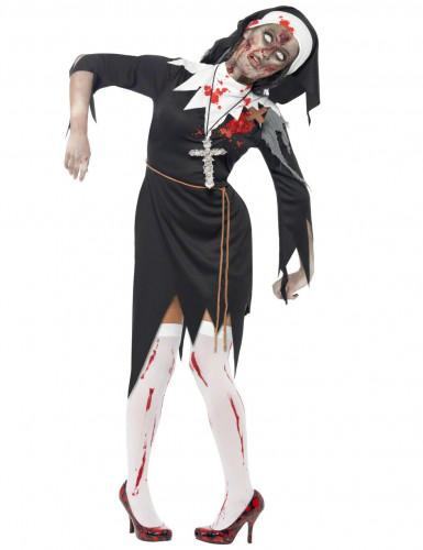 Costume da suora zombie per donna
