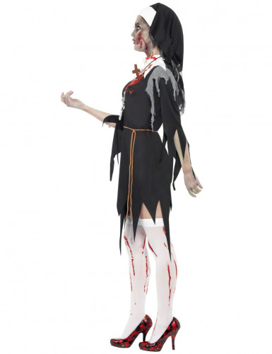 Costume da suora zombie per donna-2