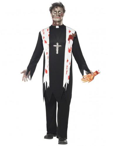 Costume uomo prete zombie