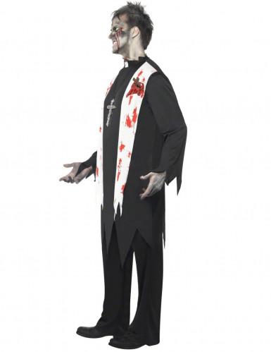 Costume uomo prete zombie-1