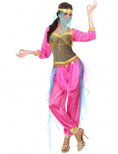 Costume rosa da danzatrice orientale