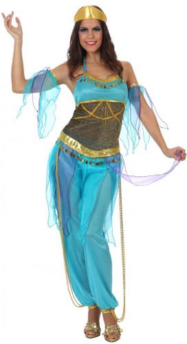 Costume da danzatrice araba blu per donna
