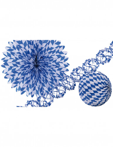 Set festone decorativo blu e bianco