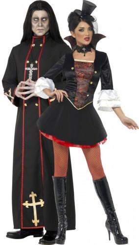 Coppia di costumi monaco e vampira per Halloween