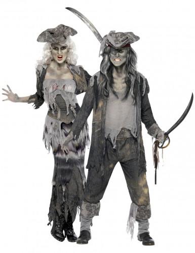 Costumi di Halloween coppia di pirati fantasma