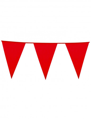 Ghirlanda con bandierine rosse