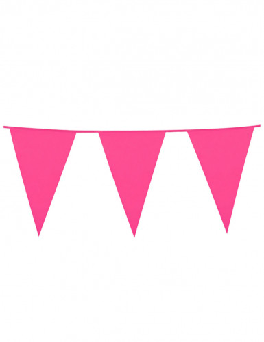 Festone a forma di bandierina rosa
