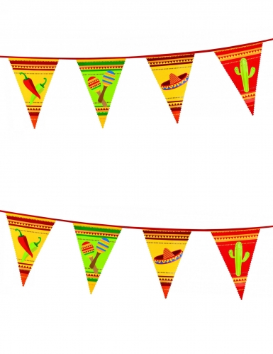 Ghirlanda con bandiere messicane