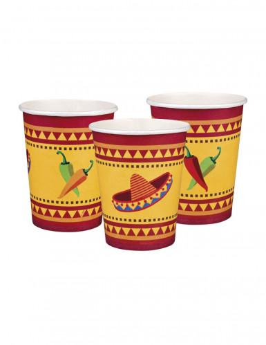 Confezione 6 bicchieri carta messicani