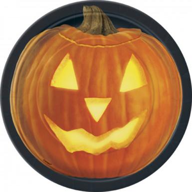 8 piatti a forma di zucca per Halloween
