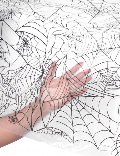 Tovaglia di plastica con ragnatele per Halloween-1