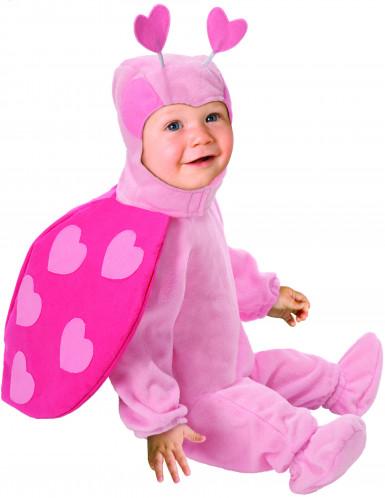Costume da coccinella rosa per neonata