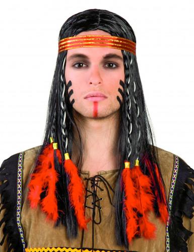 Parrucca da indiano per adulti