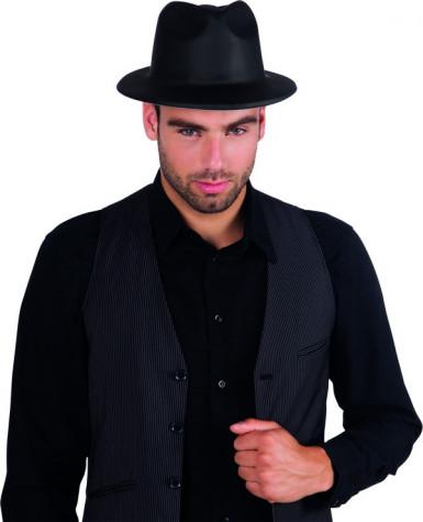Cappello da gangster di colore nero per adulto