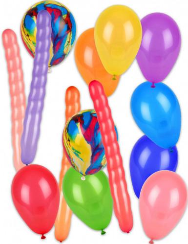 Pacco di 57 palloncini con pompa-1