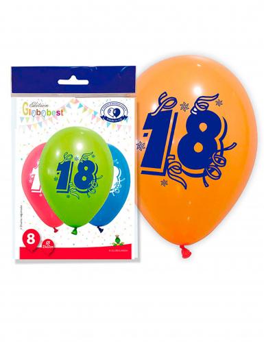 8 palloncini per festeggiare i 18 anni